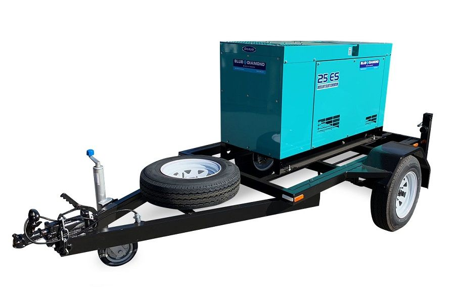 Denyo 35kVA Silenced Trailer Mounted Generator